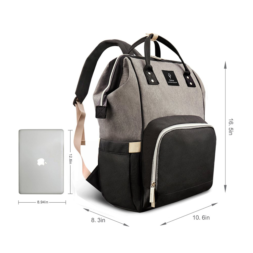 Diaper Bag Backpack With Usb Phone Charger Insulated Bottle Keeper Stroller Straps Orbisify
