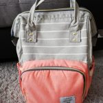 Lequeen Striped Diaper Bag Backpack photo review