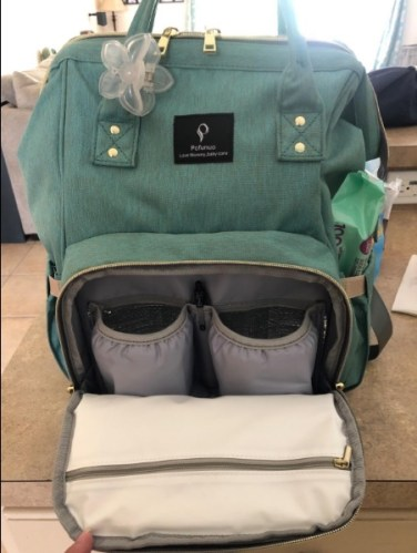 Diaper Bag Backpack with USB Phone Charger, Insulated Bottle Keeper & Stroller Straps photo review