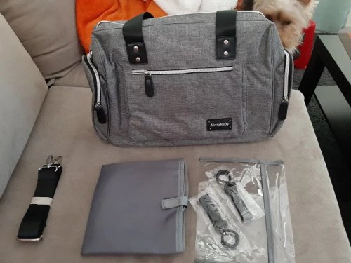 Diaper Bag with Insulated Pocket and Changing Pad photo review