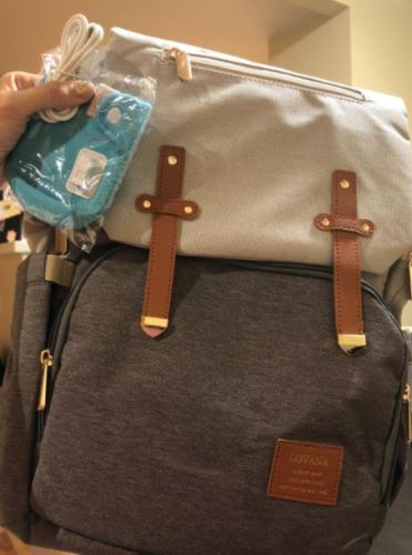Diaper Bag Backpack with USB Bottle Warmer & Phone Charger photo review