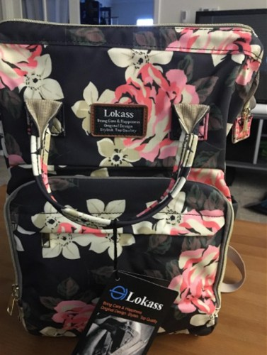 Floral Diaper Bag Backpack Flower Pattern Baby Bag photo review