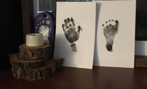Baby Handprint & Footprint Ink Pad Memory photo review