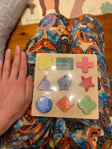 Wooden Geometric Shapes Montessori Puzzle photo review