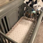 Knitted Baby Crib Bumper photo review