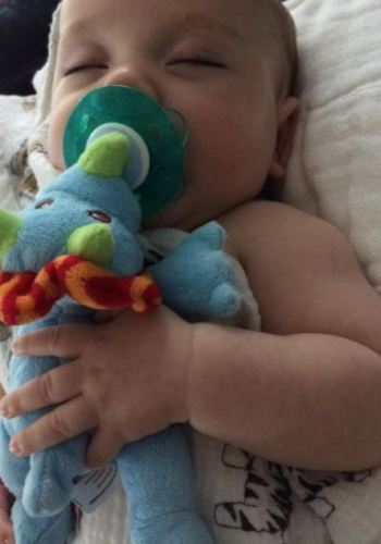 Baby Pacifier Holder Stuffed Animal Toy photo review