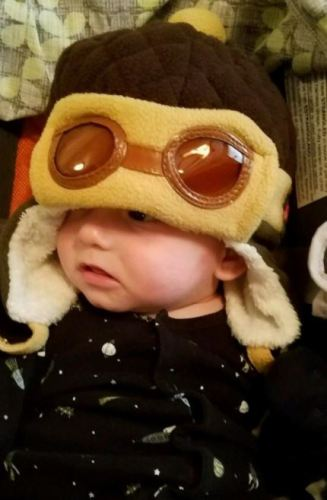 Aviator Earflap Baby Hat Crochet Pilot Warm Beanie Cap photo review