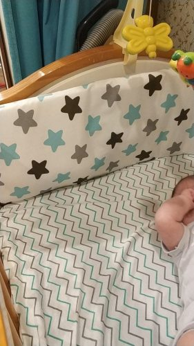 Baby Safe Crib Bumpers Yellow Stars photo review