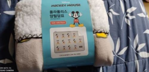 Disney Mickey Mouse Baby Plush Blanket photo review