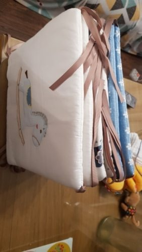 6 Panels Baby Safe Crib Bumpers Animated Animal & Star photo review