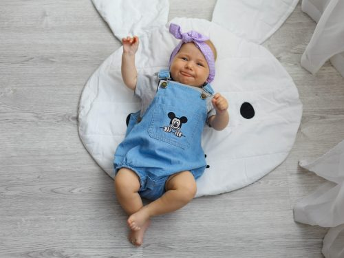 Baby Mickey Mouse Denim Sling Strap Jumpsuit photo review