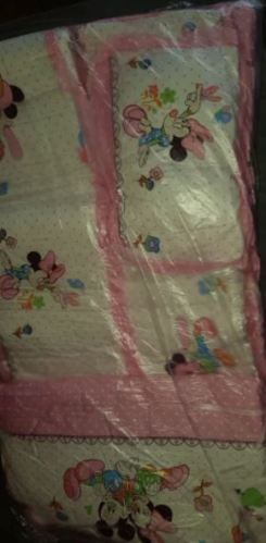 6 Panels Baby Safe Crib Bumpers Pink Cartoon Animal photo review