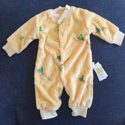 Cute Baby Romper Jumpsuit Pajamas Fleece Bodysuit for Girls and Boys photo review