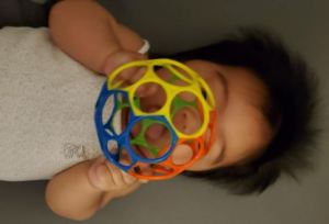 Baby Bright Starts Oball Rattle Grasp Toy photo review
