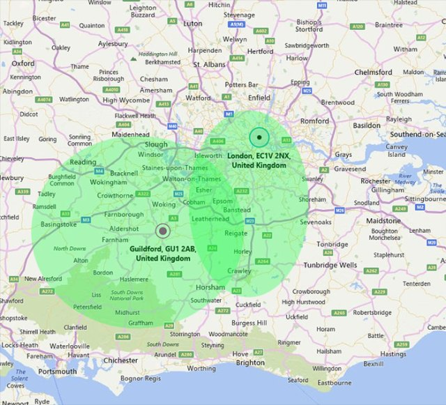 IT-Support-Surrey-London-Map