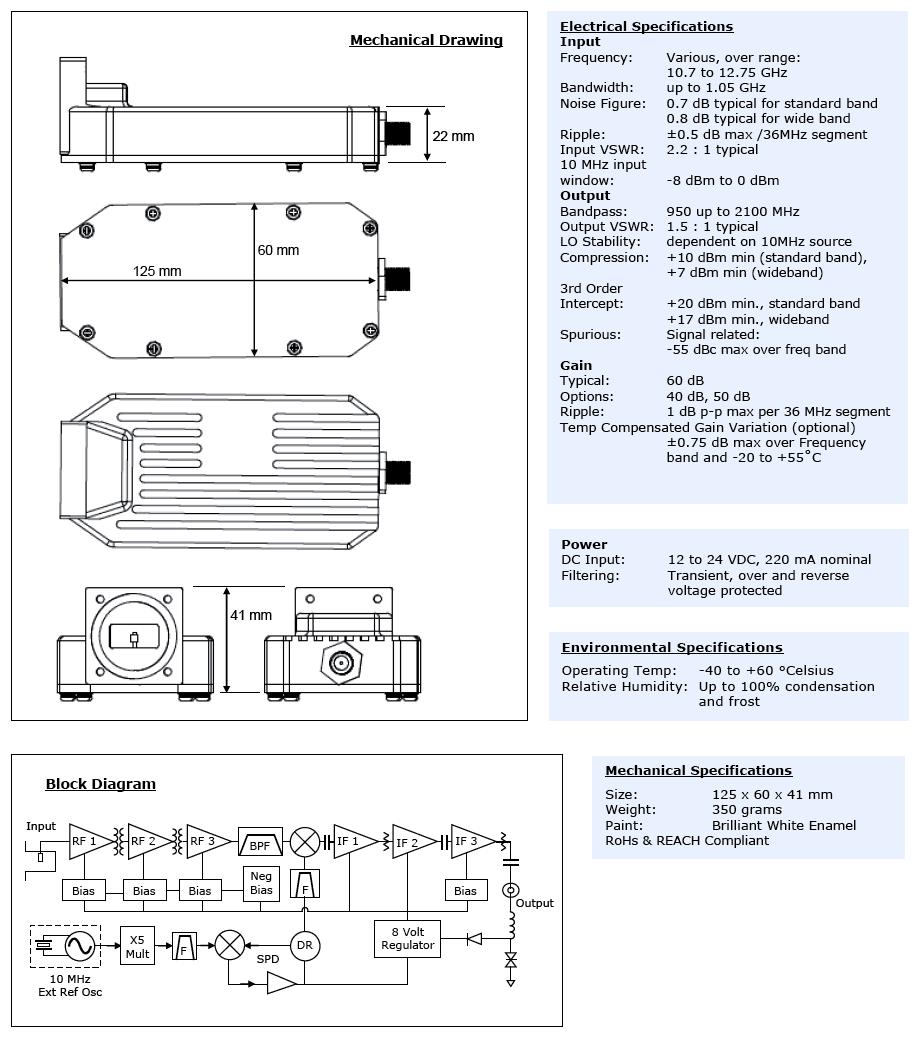 hight resolution of orbital 5400x series ku band ext ref lnb specifications