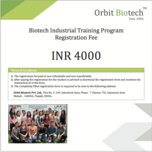 Biotech Industrial Training Registration
