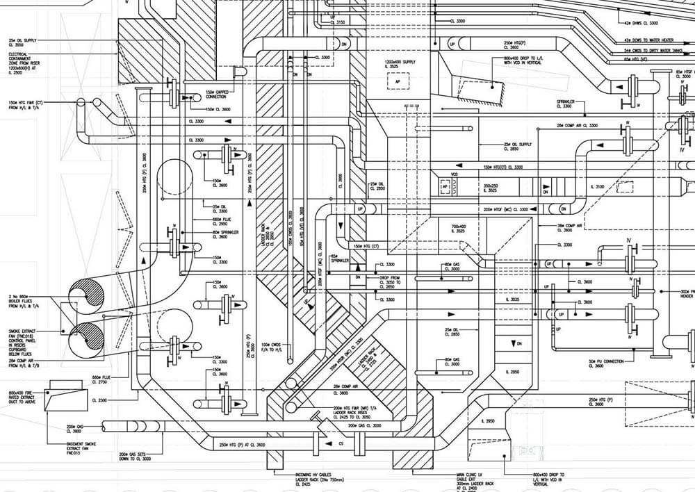 hvac duct drawing in autocad