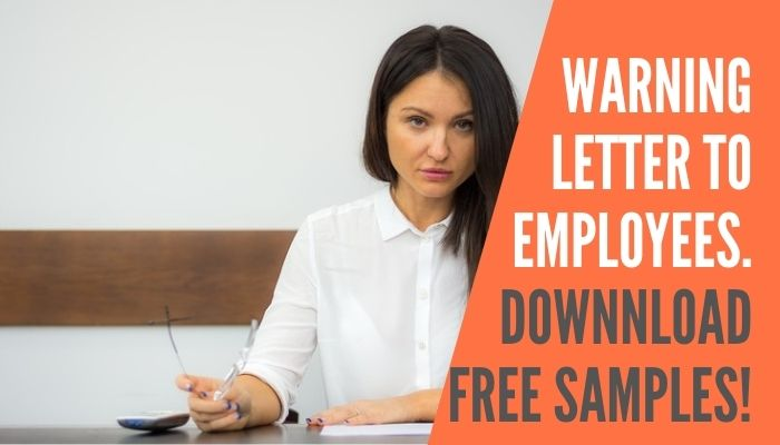 How To Write A Warning Letter To Employee | For Negligence | Poor Performance | Misconduct Etc. | Free Sample Download