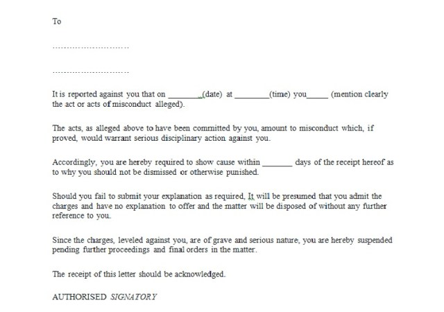 Warning Letter To An Employee Download Free Samples Templates