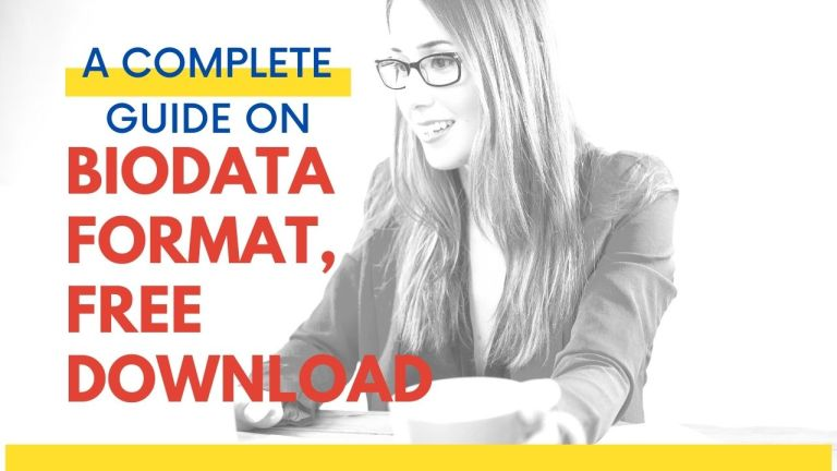 What is a Biodata | How to Make Biodata | Importance Of Biodata | Latest Biodata Formats For Job
