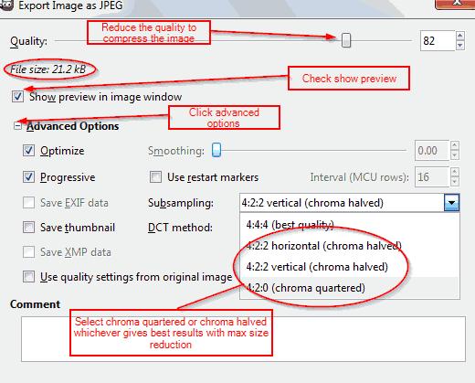 optimizing jpeg images for