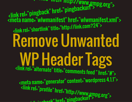 Remove These 10 Unnecessary Tags From Wordpress Header (wp