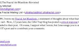 The Fractal Art Manifesto Revisited