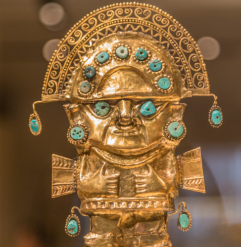 Apart from the eye/nose/mouth combination of elements, what is human to this figurine? Isn't it mostly geometic?