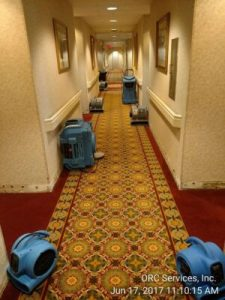 Drying out a hotel