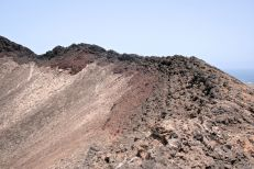 Around the edge of the crater