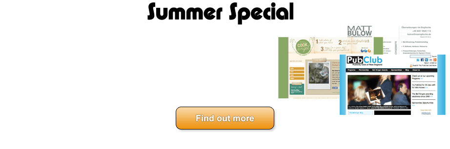 OrcaPack Summer Website Design Specials - $149 and up for a full package of custom designed website, internet marketing, seo, cms, and more