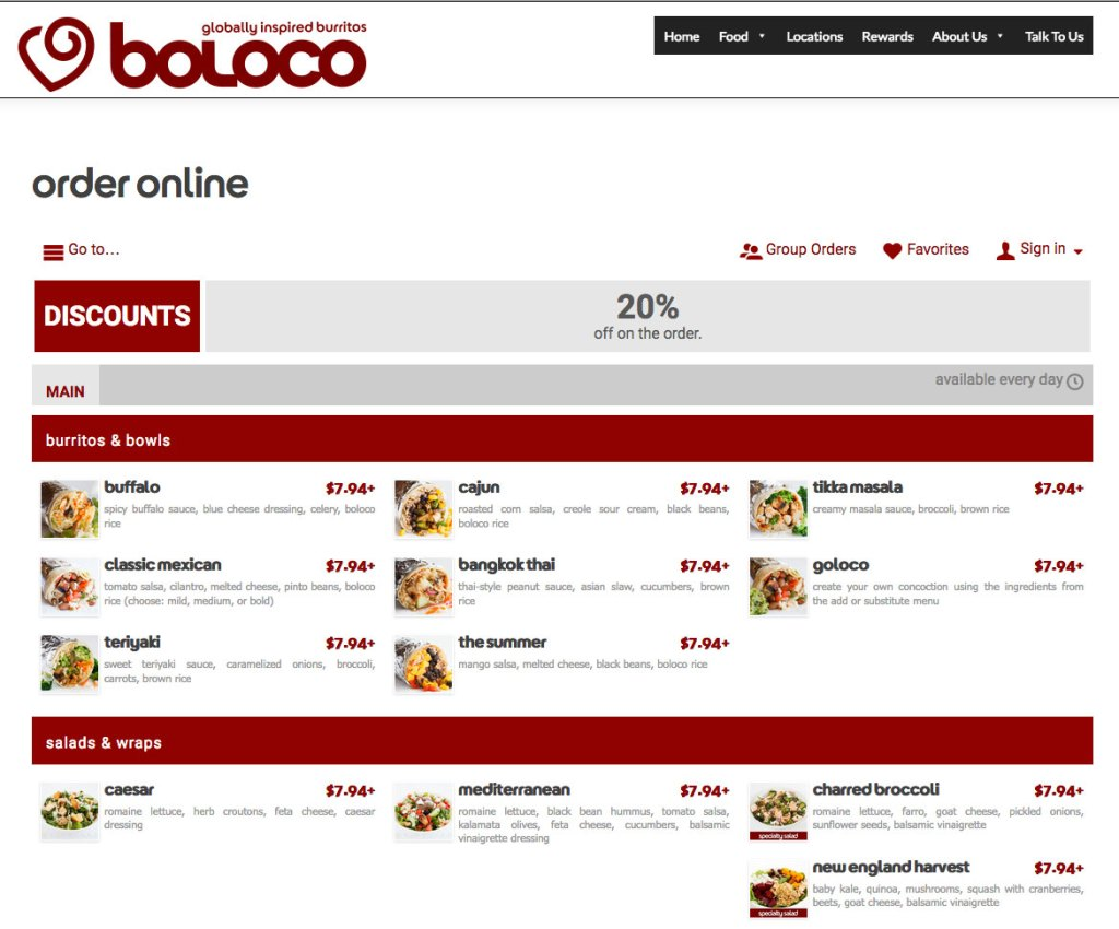 boloco restaurant online ordering integrated using the zuppler plugin