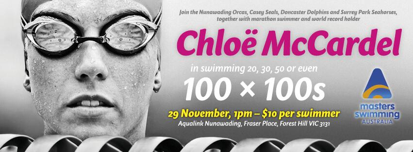Swim 100 x 100s with Chloë McCardel