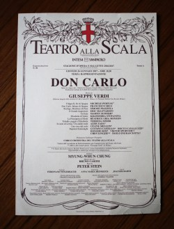 When I visited the Teatro alla Scala they were having a dress rehearsal for Verdi's Don Carlos--AMAZING!