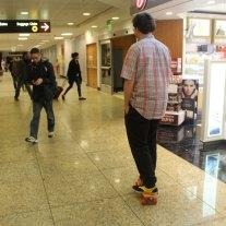 Axel Greening skateboarding in SeaTac / Photographer: Quinn Kissel