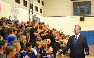 Al Gore Speaking at Assembly