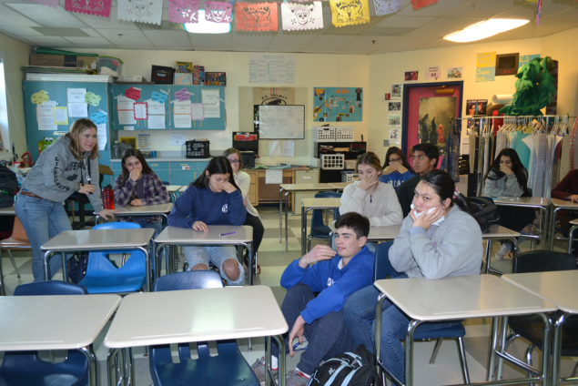 AP Spanish students flinching at the freshmen stench