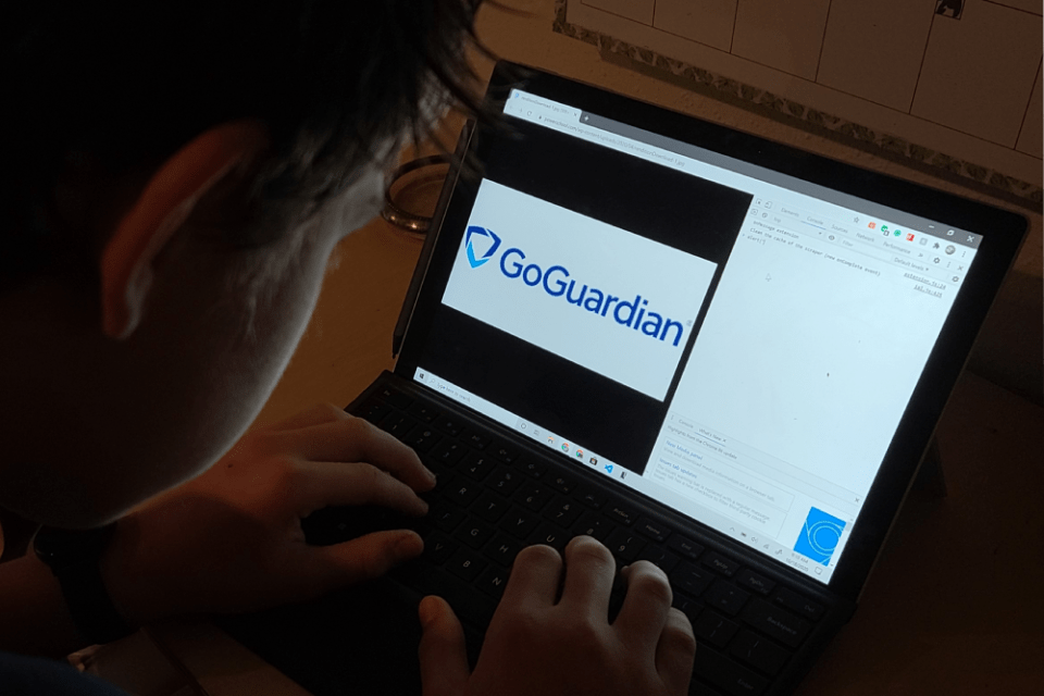 "a students computer shows ""GoGuardian"""