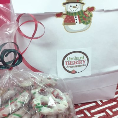 Edible Chocolate Covered Mini Pretzels - Orchard Berry Arrangements, Spruce Grove