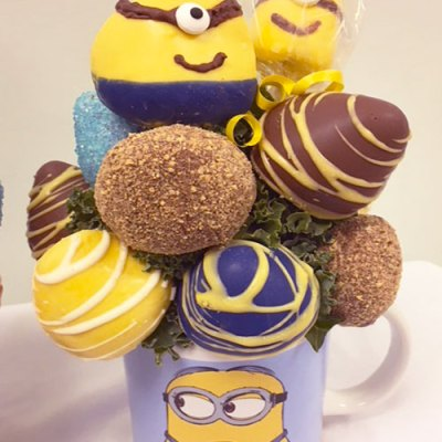 Edible Strawberry Minions - Orchard Berry Arrangements, Spruce Grove