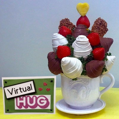 Strawberry Tea for Two - Virtual Hug - Orchard Berry Arrangements - Spruce Grove