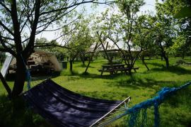 Relax in one of the hammocks