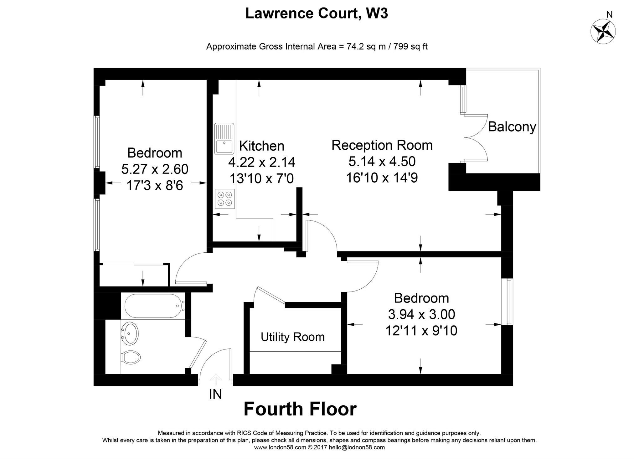 Flat For Sale in Lawrence Court, Palmerston Road, Acton