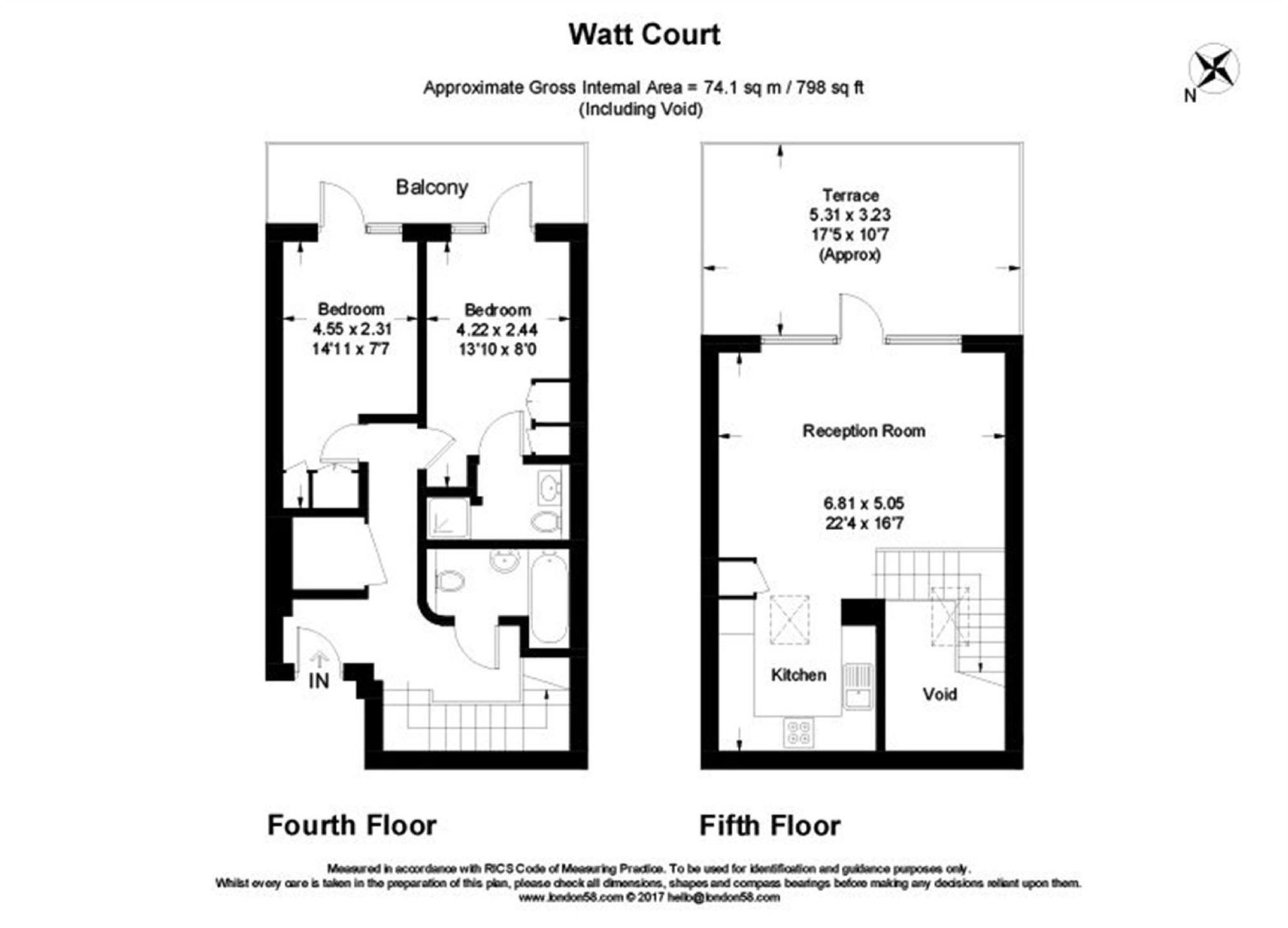 Flat To Rent in Watt Court, Acton