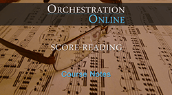 Click to download Score-Reading course notes ebook