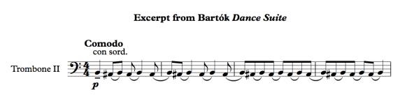 Excerpt from Bartok Dance Suite
