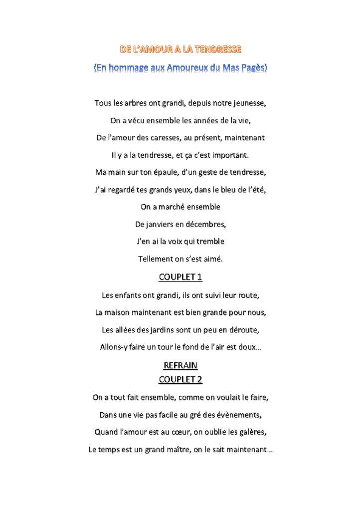 Parole A La Vie A L'amour : parole, l'amour, ORCHESTRE, ANDRE, ALIBERT, L'AMOUR, TENDRESSE-paroles