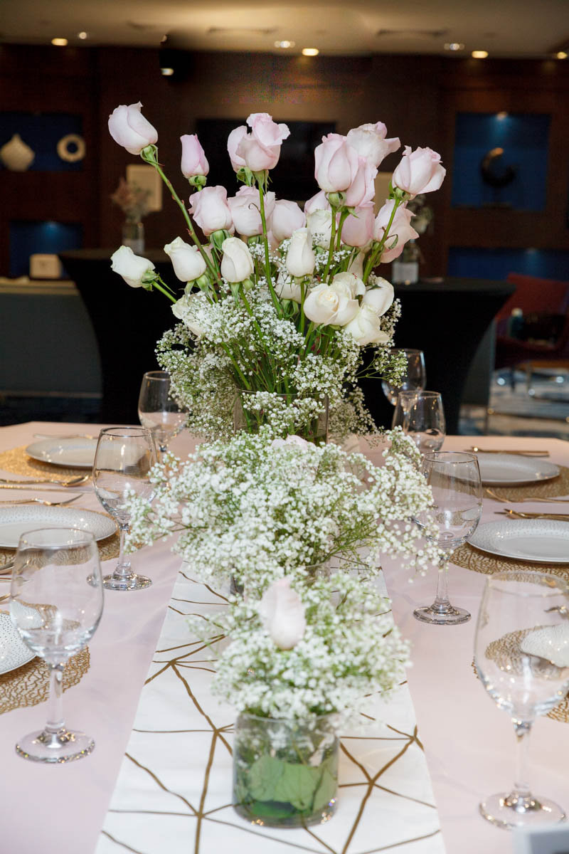 Orchid Affairs Event Planning Roses Babys Breath Blush