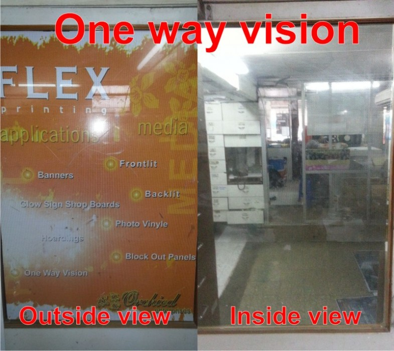 One way vision glass printing film acts as a privacy panel